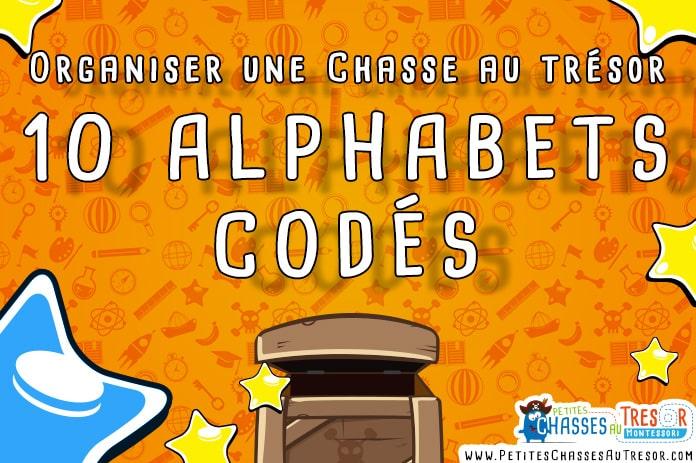 10 Alphabet codé pour chasse au trésor à imprimer