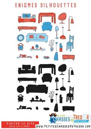 Enigmes pour des enfant à partir de 3 ans sur les objets