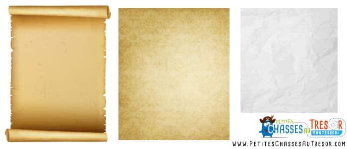 Papier vieillit pour fabriquer une carte au trésor