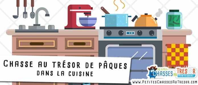 Chasse au trésor de pâques à faire dans la cuisine