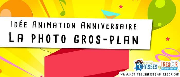 Animation photo pour anniversaire d'enfants