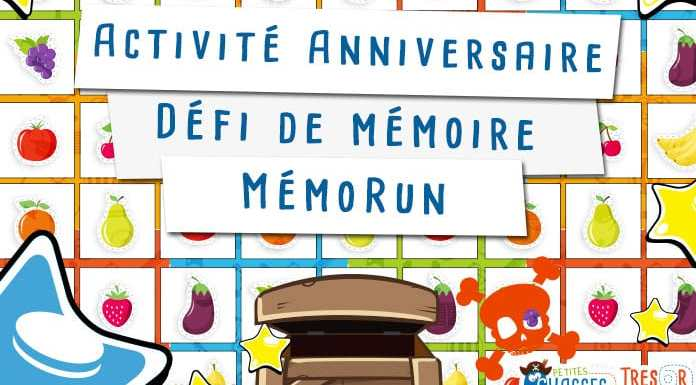 Activité pour un anniversaire d'enfant sur la mémoire avec un mémorun