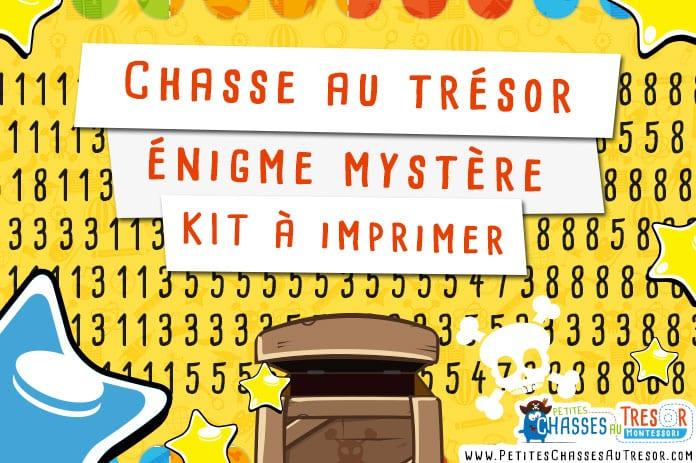 Chasse au tr sor nigme myst re pour enfant kit imprimer - Coffre chasse au tresor ...