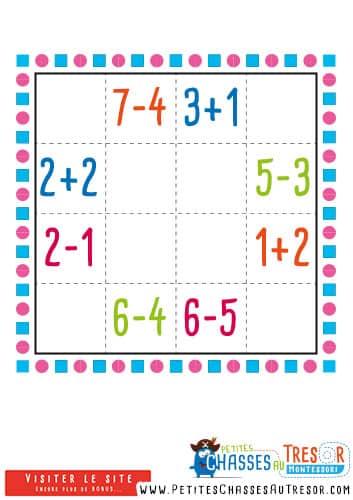 Sudoku pour enfant sur les maths