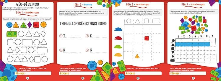 Cahier de vacance les défis des petits génies