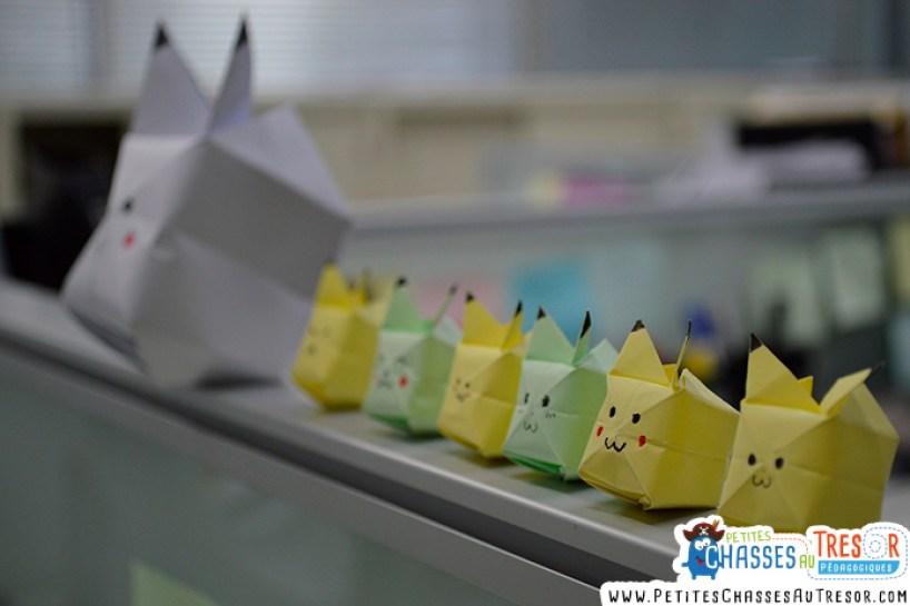 L'origami donne aux enfants l'occasion de résoudre quelque chose