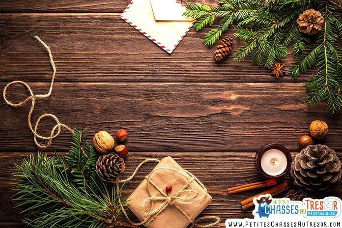 Décoration de Noël pour un calendrier de l'avent