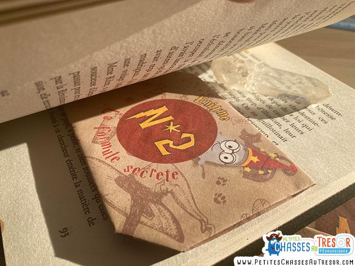 Cachette pour énigmes d'Escape game sur le thème d'Harry Potter