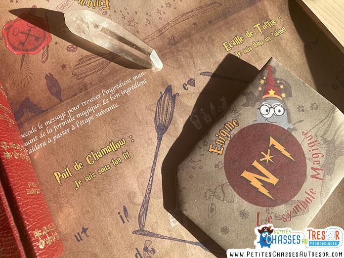 énigme de français sur le thème de harry potter
