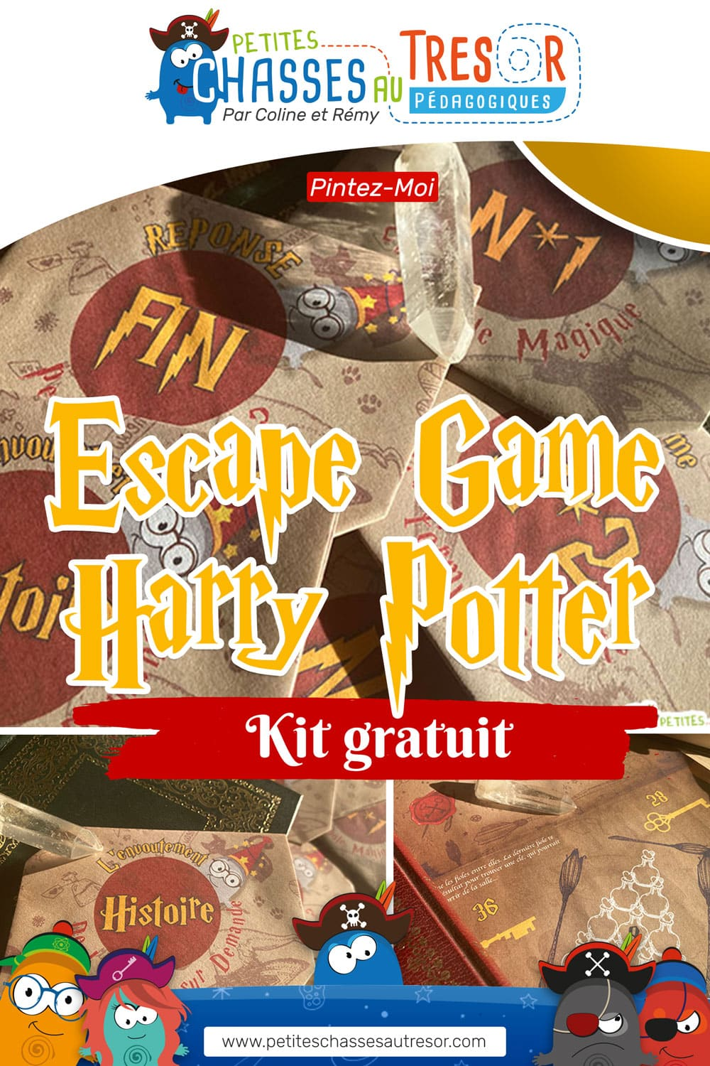 Photo de l'escape game sur le thème d'Harry Potter