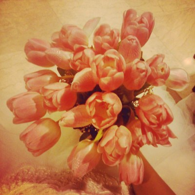 Glai's bouquet, which she forced me to carry while she took photos of me in her wedding gown a day later