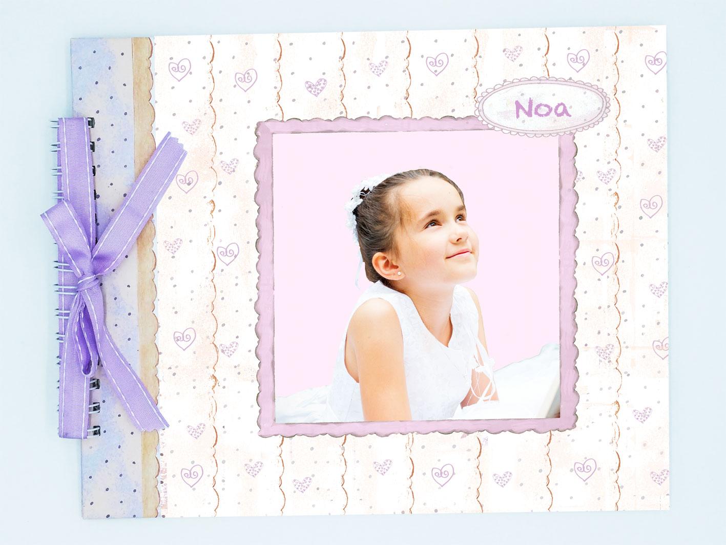 Álbum de comunión niña modelo Noa foto
