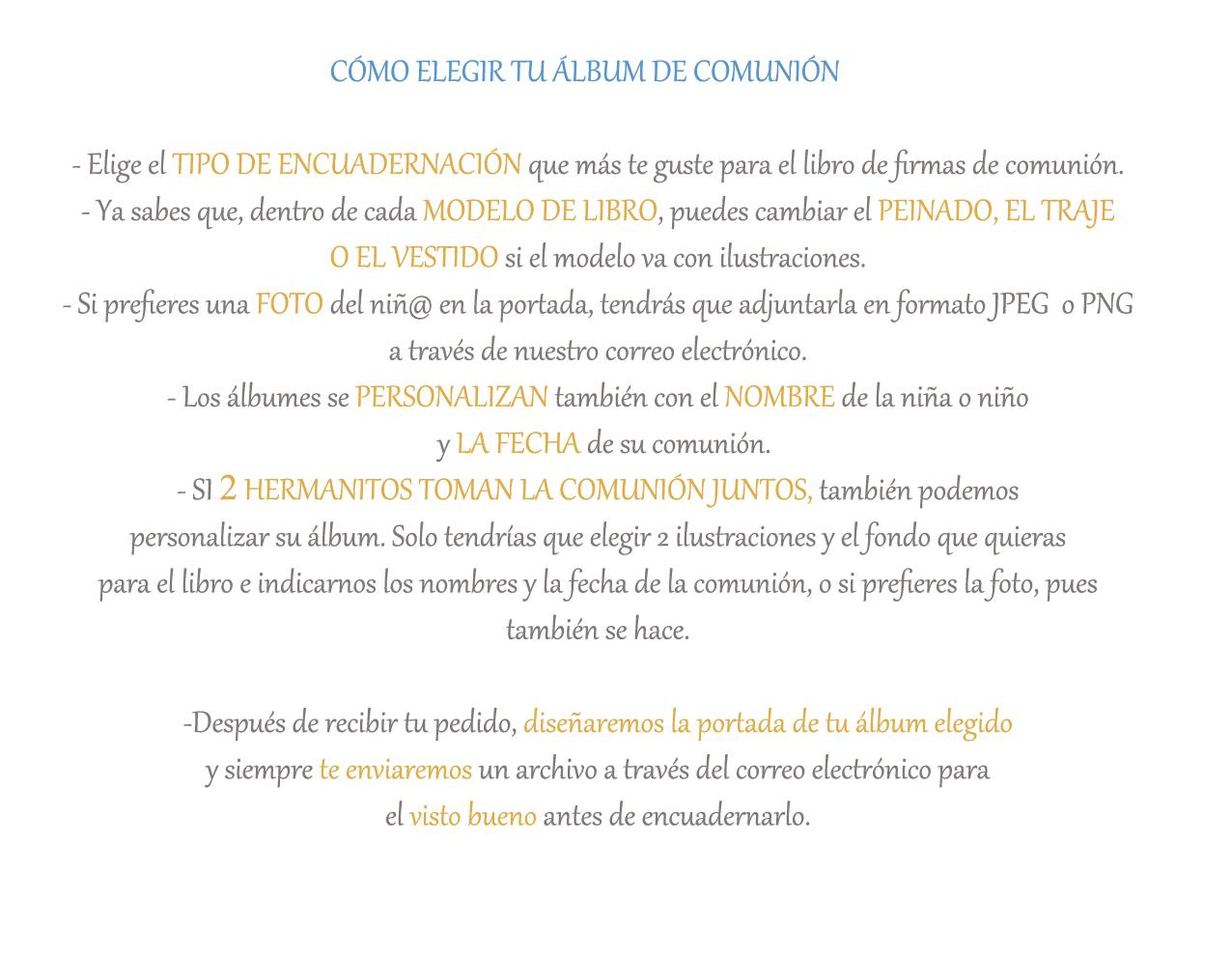 Cómo elegir tu álbum de comunión Petitkokoro