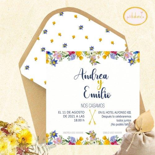 Invitación boda Campaing Petitkokoro