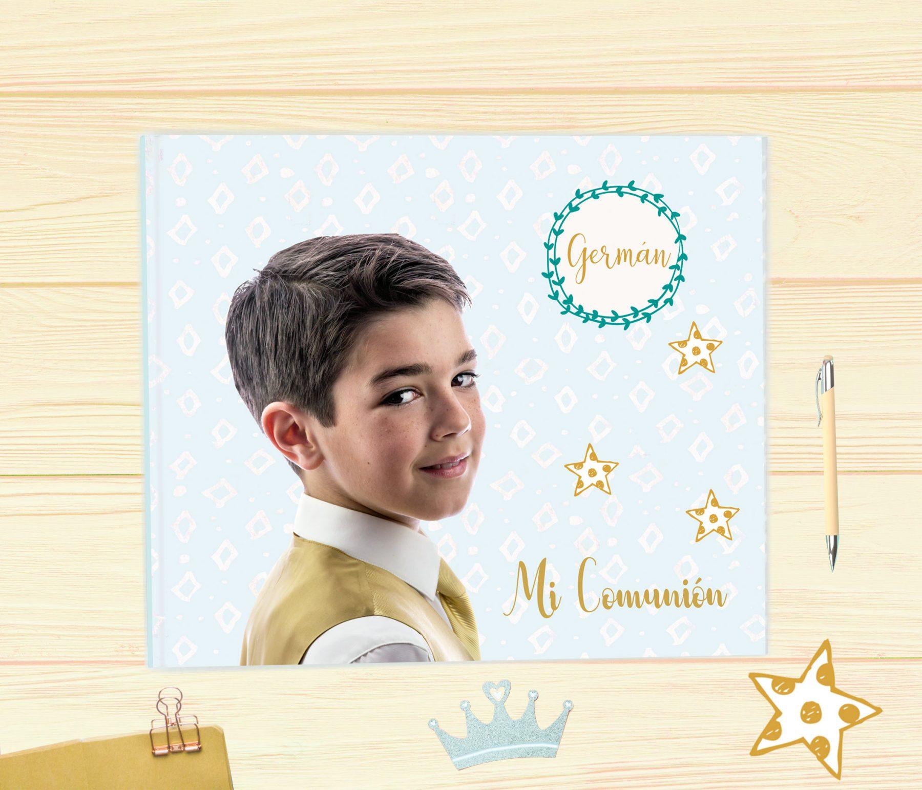 Álbum de comunión niño modelo foto