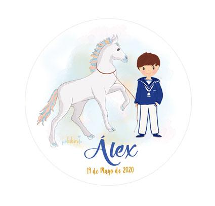 chapas-comunión-niño-modelo-Álex
