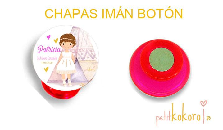 chapas-comunion-imán-botón-modelo-patricia india