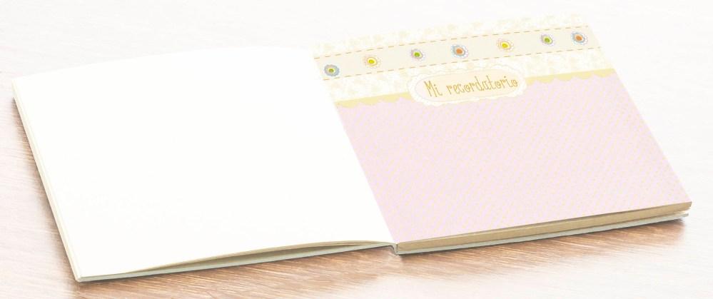 hoja libro firmas álbum comunión niña petitkokoro 4