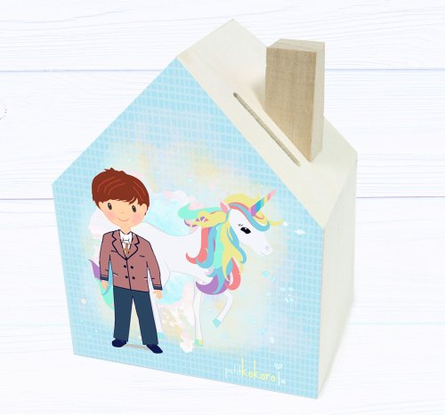 hucha-comunión-madera-niño-unicornio