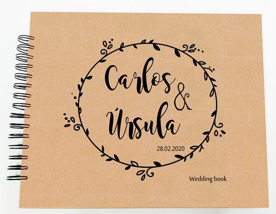 Libro de firmas álbum de fotos boda Petitkokoro modelo Carlos