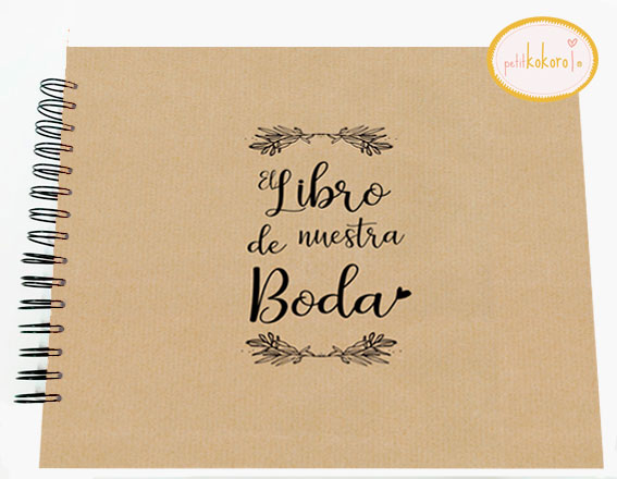 Libro de firmas álbum personalizado de fotos boda Petitkokoro modelo genérico kraft