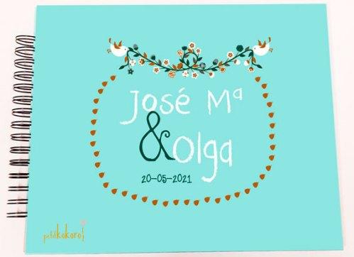 álbum firmas y fotos de boda personalizado petitkokoro modelo Jose María