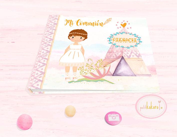 Libro Firmas comunión niña modelo india