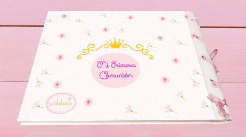 libro de firmas comunión niña modelo Iglesia Petitkokoro