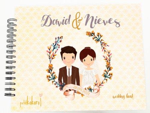 álbum boda personalizado para firmas y fotos modelo David