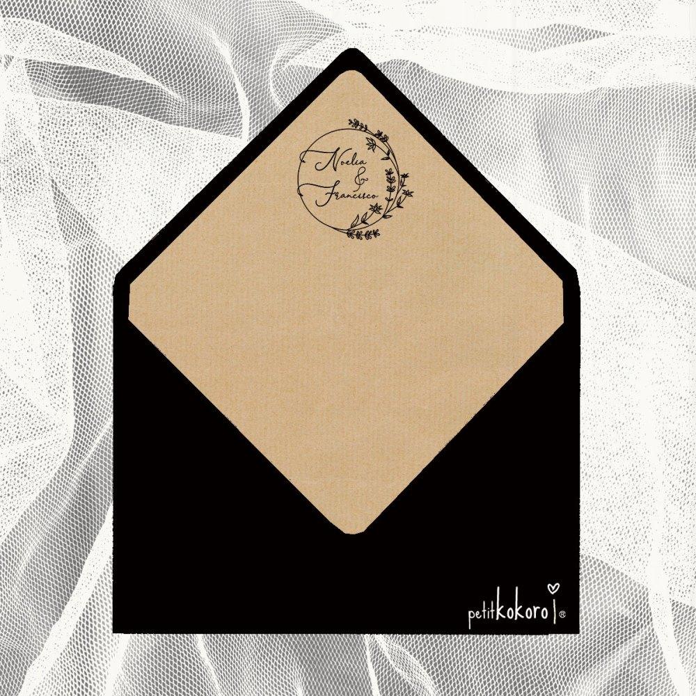 sobre-invitación-Crown-Black-petitkokoro