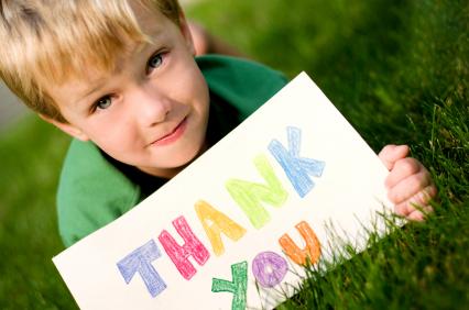 enseigner la gratitudes aux enfants