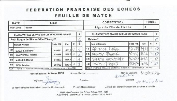 D4 HDS Sèvres reçoit Malakoff