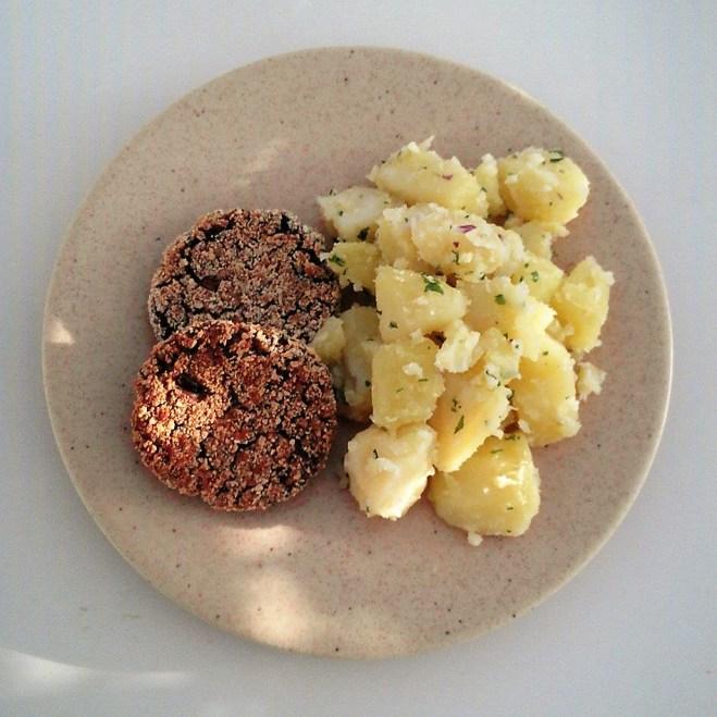 croquette sans poisson + salade de PDT