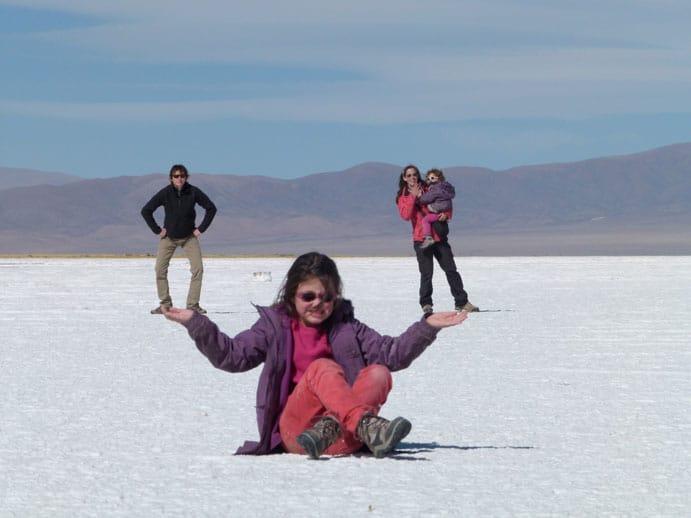 Désert de sel en Argentine