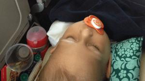avion avec bébé : siège bassinet ?