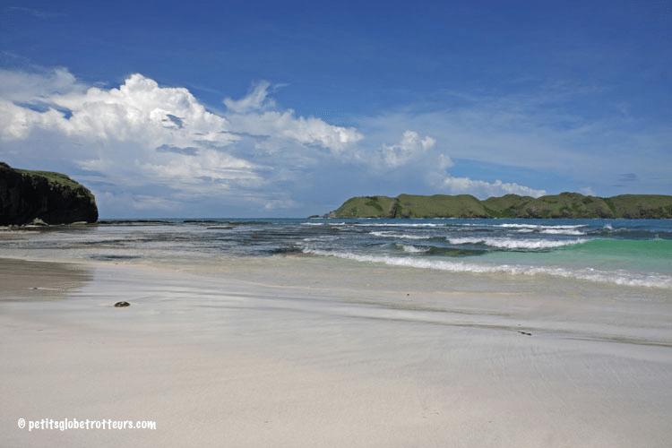 Lombok avec enfant : plage de Tanjong Ann