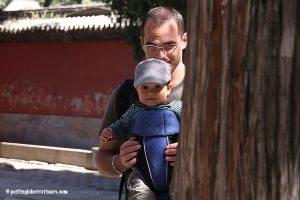 Palais d'été avec bébé