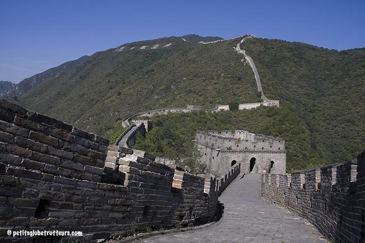Grande muraille de Chine avec bébé
