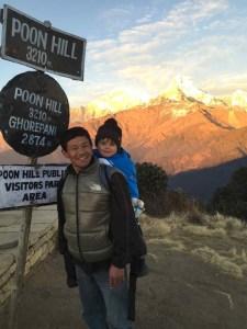 Nepal en famille Poon Hill