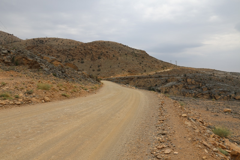 Jebel Shams, route