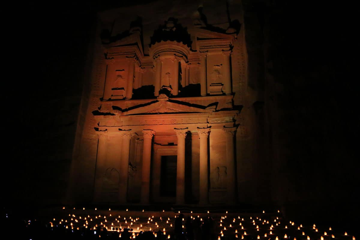 petra by night jordanie en famille
