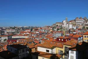 vue depuis le parvis de la cathédrale de Porto