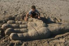 Sculpture de sable, photo de Hannaan Rosenthal (CC BY 2.0)