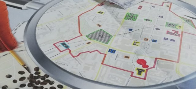 carte jeu de piste en ville