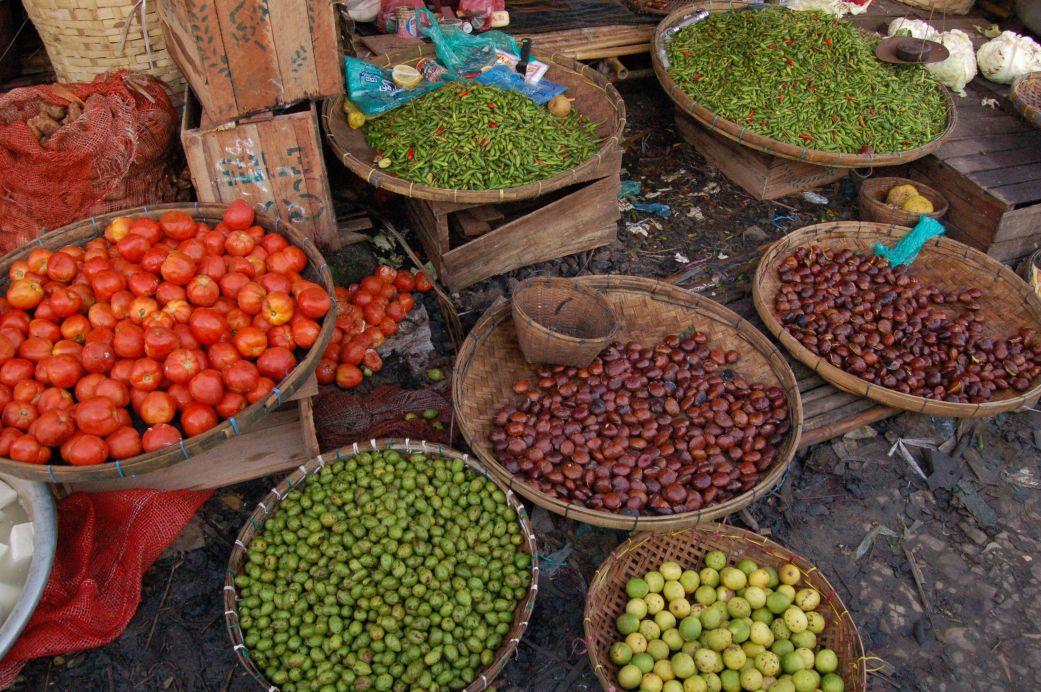 Local food market in Burma