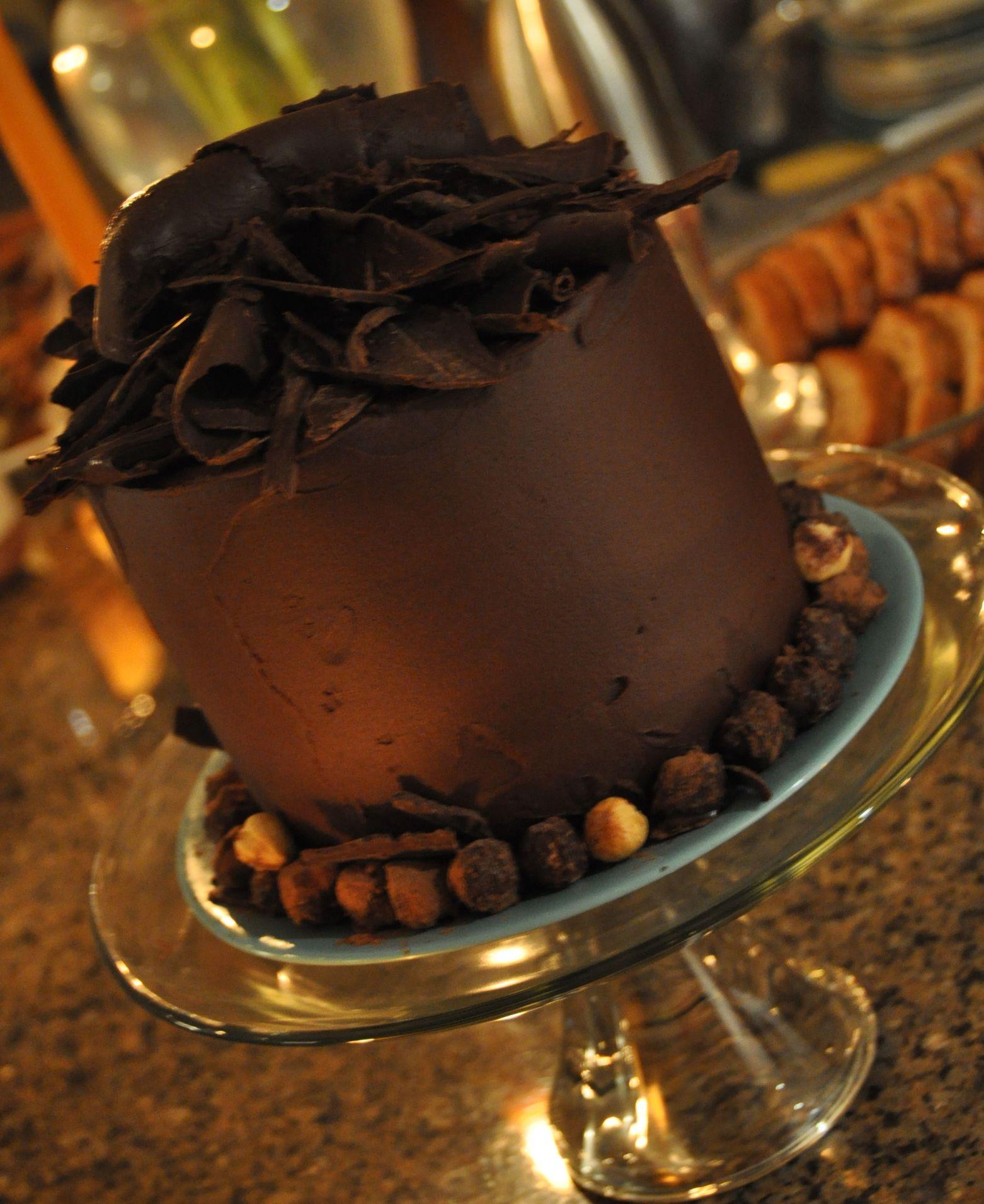 Belgian Chocolate Cake, tall