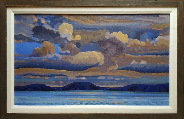 Colin Graham RCA (1915 – 2010) Western Sky, Oil on Canvas, 18 x 30 inches