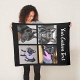 Pet Photo Collage Blankets - dog Fleece Blankets