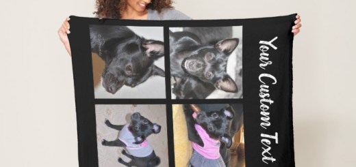 Pet Photo Collage Blankets - dog Fleece Blankets