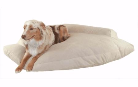 2 Hidden Valley Khaki And Fleece Corner Pet Bed